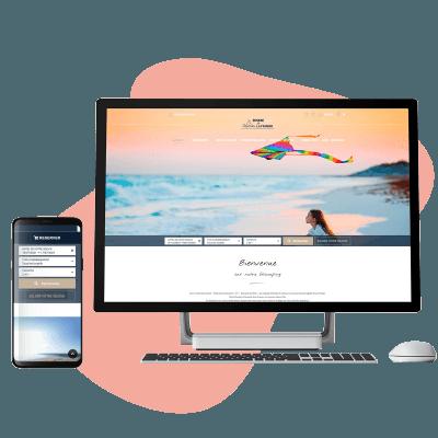 Site Web camping avec nouveaux usages mobiles