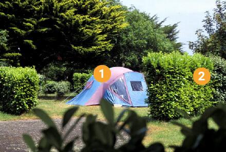 exemple reussi de photo d'emplacement camping